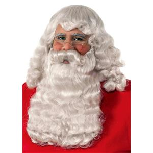 Adult Deluxe Gray Santa Claus Wig and Beard Set