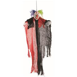 "Creepy 24"" Scary Hanging Evil Clown Prop"