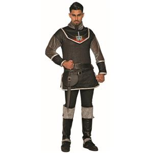 Medieval Black Chain Mail Rogue Prince Tunic