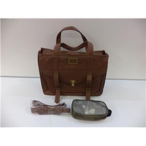 "Francine Mercer Street Laptop Case Francine Women In Business Brown 15.6"""
