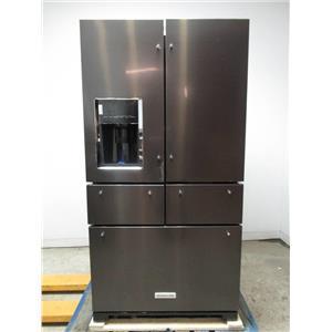KitchenAid 25.8 Cu. Ft. French Door Refrigerator Black stainless KRMF706EBS