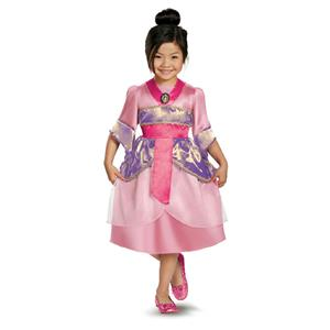 Disguise Disney's Mulan Sparkle Classic Girls Costume 3T-4T