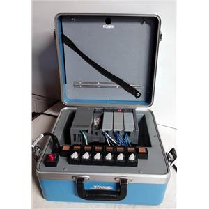 ALLEN BRADLEY 1747-DEMO 3 SLC 500 TRAINING KIT BLUE CASE/GRAY CASE