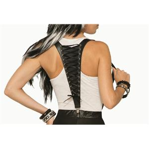 Mythical Lace Up Midnight Menagerie Costume Suspenders