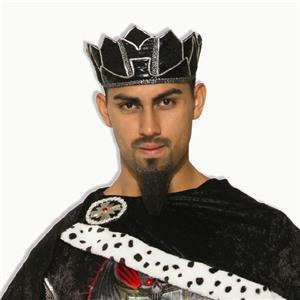 Dark Royalty Black King Crown Costume Crown