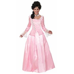 Colonial Maiden Pink Elegant Corset Adult Costume Dress