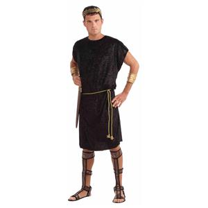 Black Adult Tunic with Rope Belt