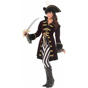 Captain Morgana Buccaneer Pirate Adult Costume Size M/L