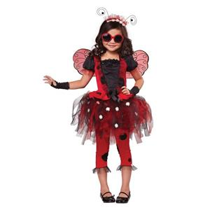 Lovely Ladybug Fairy Child Costume Medium 8-10