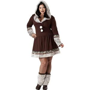 Alaska Eskimo Kisses Adult Costume Plus Size XXXL 20-22
