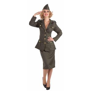 WW2 Army Gal Military Women's Adult Costume