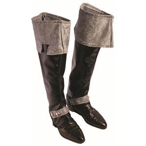 Medieval King Dark Royalty Black Adult Boot Covers