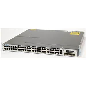 Cisco WS-C3750X-48P-S Catalyst 3750X 48-Ports 10/100/1000 PoE+ Switch C3KX-NM-1G