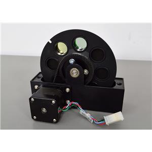 Microscopy Emission Filter Wheel 3900-0062 w/ Fluorescein & Rhodamine Filters