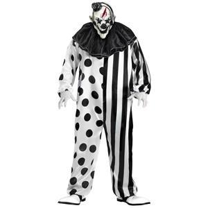 Black and White Killer Clown Adult Costume