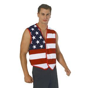 Stars and Stripes American Patriotic Flag Vest