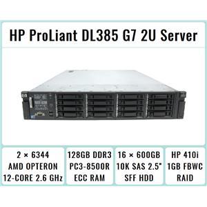 HP ProLiant DL385 G7 Server 2xOpteron 6344 12-Core 2.6GHz + 128GB RAM + 16x600GB