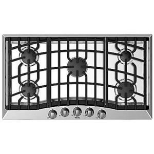 Viking 36 Inch 5 Sealed Burners Aluminum Flame Ports Gas Cooktop RVGC33615BSS