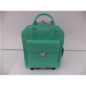 """McKlein 96492 LA Grange Mint 15.6"""" Leather Detachable, Wheeled Ladies' Briefcase"""