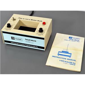 VWR Scientific Vanlab 13259-005 Heat Block Dry Bath 100W