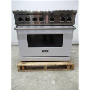 Viking Professional 5 Series 36 Inch Convection Pro-Style Gas Range VGR5366BWH