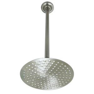 "Kingston Brass Satin Nickel K236K28 Victorian 8"" Shower Head with 17"" Ceiling Support,"