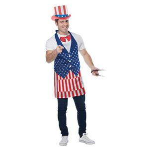 Red, White and Blue 4th of July American Patriotic Apron