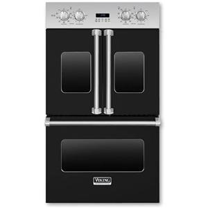 """Viking Professional Premiere 30"""" BLK Double Electric French Door Oven VDOF730BK"""