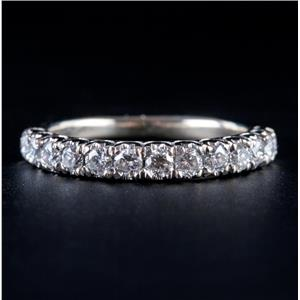 14k White Gold Round Brilliant Cut Diamond Wedding / Anniversary Ring .45ctw