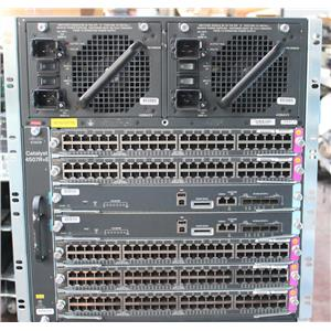Cisco Catalyst WS-C4507R+E Chassis IP Base 2x WS-X45-SUP7L-E 5x WS-X4648-RJ45V+E