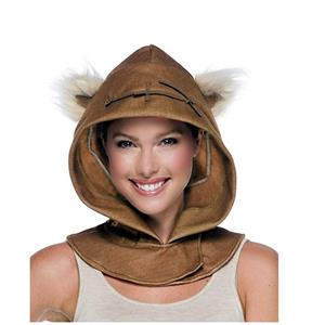 Star Wars Ewok Furry Costume Hood With Attached Ears