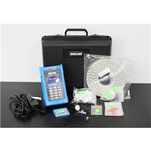 Mocon Portable O2 Oxygen Analyzer Pac Check 302 001-443 w/ Carry Case