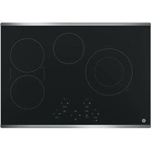 GE 30 Inch SyncBurner Digital Controls BLK Smoothtop Electric Cooktop JP5030SJSS