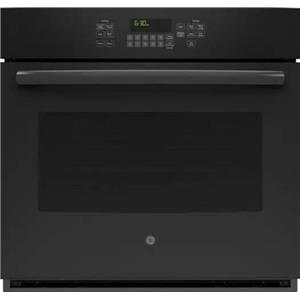 GE 30 Inch True European Convection Electric Single BLK Wall Oven JT5000DFBB