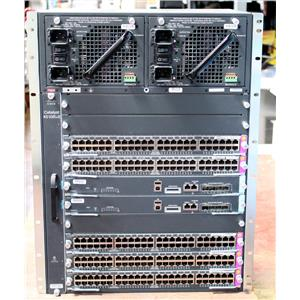 Cisco Catalyst WS-C4510R+E Chassis IP Base 2x WS-X45-SUP7-E 2x WS-X4748-RJ45-E