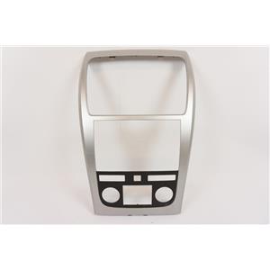 2007-2012 GMC Acadia Radio Automatic Climate Dash Trim Bezel with Silver Trim