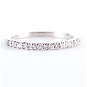 Platinum Round Cut Diamond Wedding Anniversary Band / Ring .08ctw