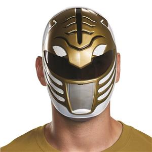 White Power Ranger Vacuform Costume Mask
