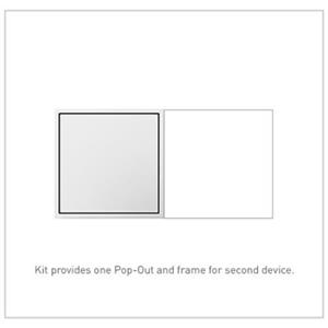 Legrand ARPTR152GW2 adorne White Pop-Out 15A 2-Gang Triple Outlet Receptacle
