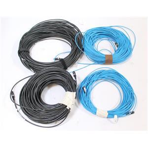 Lot of 5 Kramer Plenum Fiber Optic HDMI Cables 100-200 feet CMP-OF E158012-B