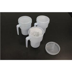 (Lot of 3) NEW Sammons Preston The Kennedy Cup 1249 Spillproof Adult Sippy Cup