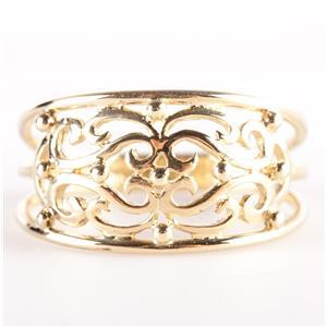 14k Yellow Gold Filigree Style Band / Ring 2.6g Size 7