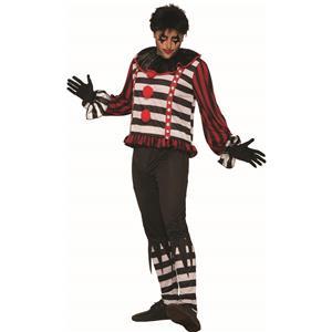Mr. Mayhem Killer Mime Clown Costume for Men Standard Size