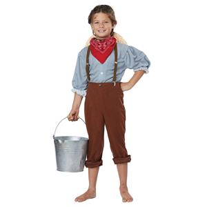 Boys Early Pioneer American Halloween Costume Size Large 10-12