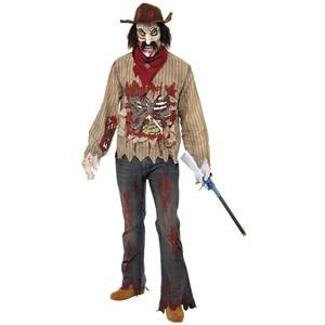 Zombie Cowboy Adult Costume Size Large