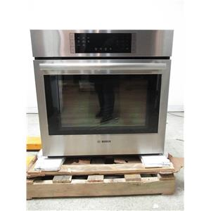 """Bosch 800 30"""" 4.6 cu. ft Fast Preheat Single Electric Convection Oven HBL8451UC"""