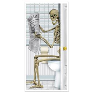 Skeleton Bathroom Door Cover Halloween Decor