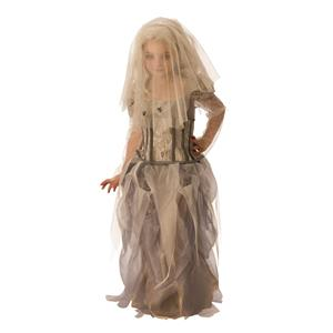Rubies Ghost Zombie Bride Girls Costume Small 4-6