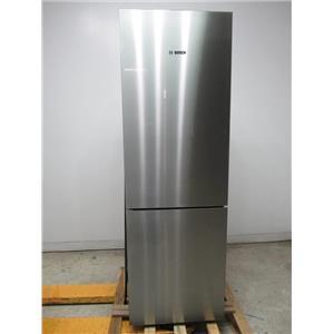 """Bosch 800 Series 24"""" 10.0 cu.ft. Counter-Depth Refrigerator SS/Glass B10CB80NVS"""
