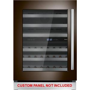 "Thermador 24"" Dual Zone Custom Panel Left-Hinge Wine Refrigerator T24UW900LP"